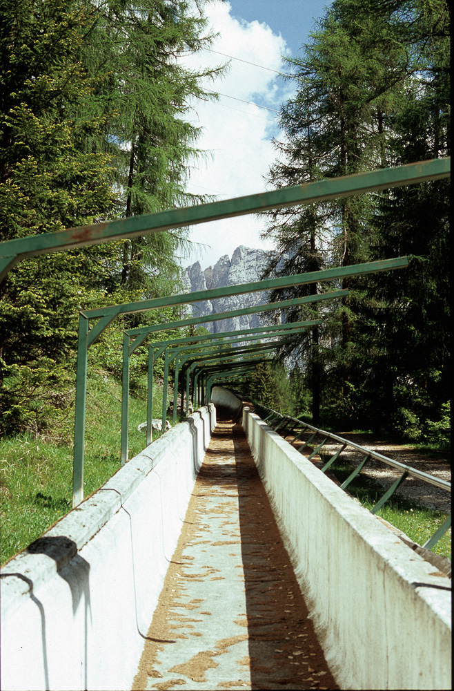 Historic bob sledge track